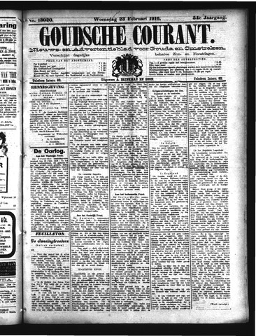 Goudsche Courant 1916-02-23