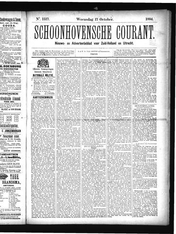 Schoonhovensche Courant 1894-10-17
