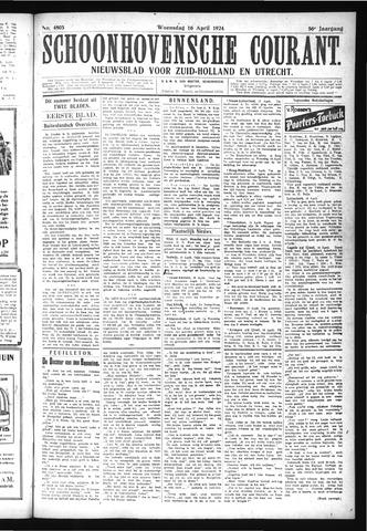 Schoonhovensche Courant 1924-04-16