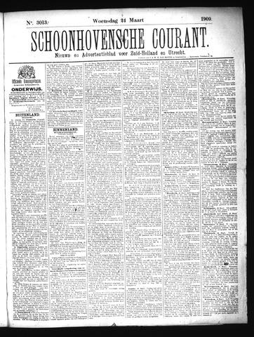 Schoonhovensche Courant 1909-03-24