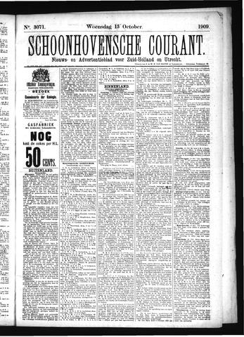 Schoonhovensche Courant 1909-10-13