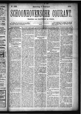 Schoonhovensche Courant 1889-02-09