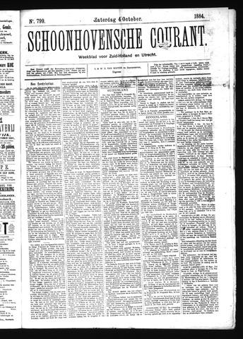 Schoonhovensche Courant 1884-10-04