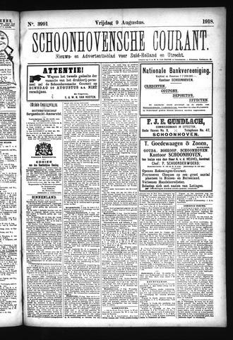 Schoonhovensche Courant 1918-08-09