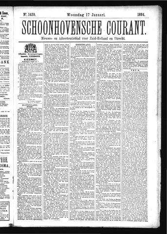 Schoonhovensche Courant 1894-01-17