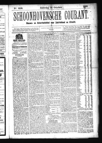Schoonhovensche Courant 1900-10-13