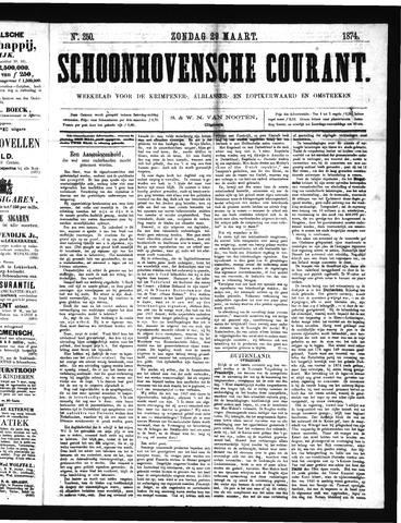 Schoonhovensche Courant 1874-03-29