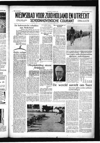 Schoonhovensche Courant 1956-08-08