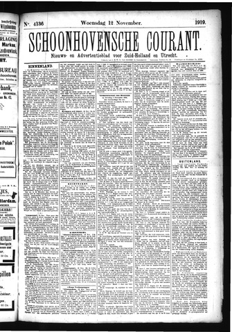 Schoonhovensche Courant 1919-11-12
