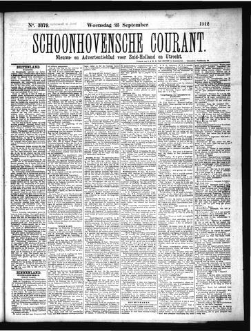 Schoonhovensche Courant 1912-09-25