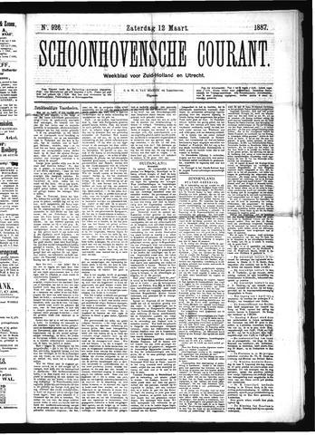 Schoonhovensche Courant 1887-03-12