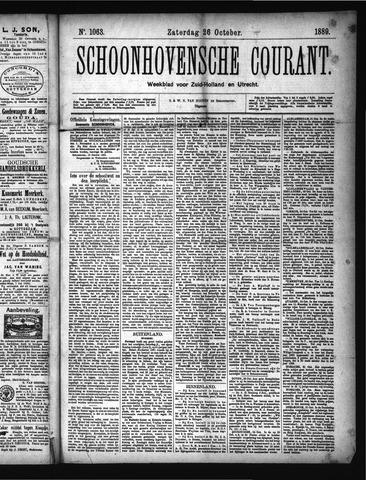 Schoonhovensche Courant 1889-10-26
