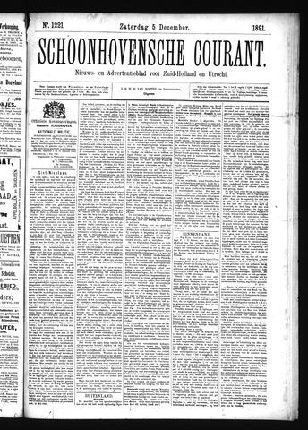 Schoonhovensche Courant 1891-12-05