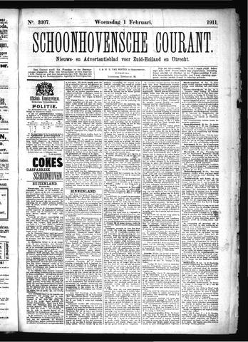Schoonhovensche Courant 1911-02-01