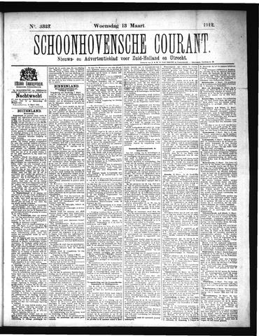 Schoonhovensche Courant 1912-03-13