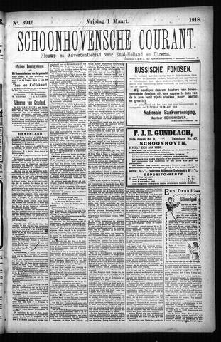 Schoonhovensche Courant 1918-03-01