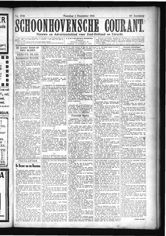 Schoonhovensche Courant 1923-12-03