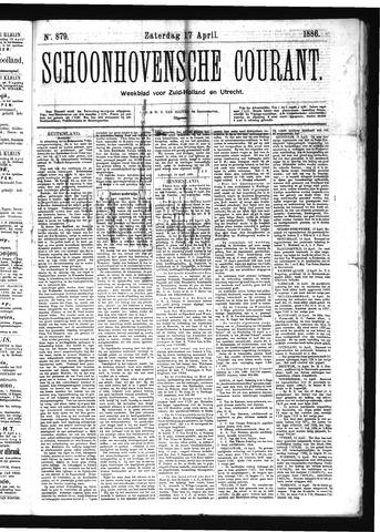 Schoonhovensche Courant 1886-04-17