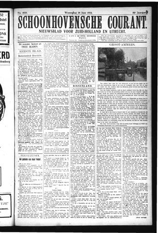 Schoonhovensche Courant 1924-06-25