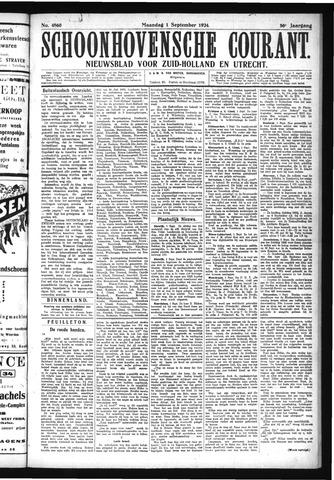 Schoonhovensche Courant 1924-09-01
