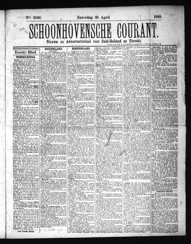 Schoonhovensche Courant 1910-04-30