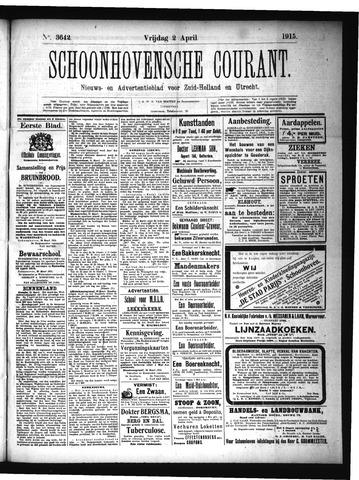 Schoonhovensche Courant 1915-04-02