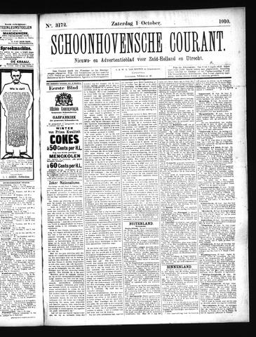 Schoonhovensche Courant 1910-10-01