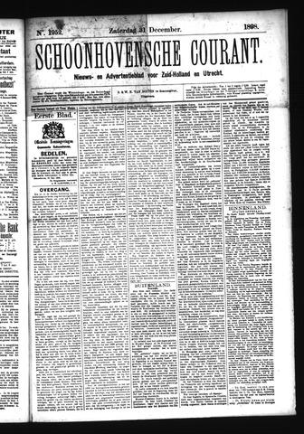 Schoonhovensche Courant 1898-12-31