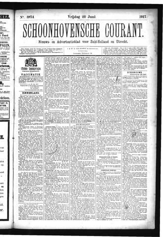 Schoonhovensche Courant 1917-06-22