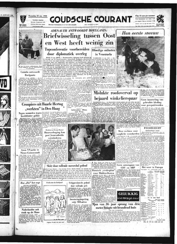 Goudsche Courant 1958-01-22