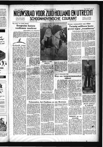 Schoonhovensche Courant 1952-11-26