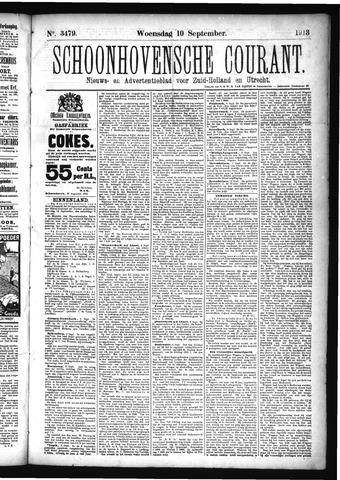 Schoonhovensche Courant 1913-09-10