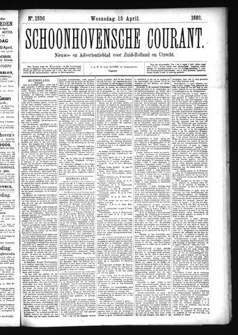 Schoonhovensche Courant 1892-04-13
