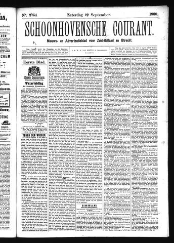 Schoonhovensche Courant 1906-09-22