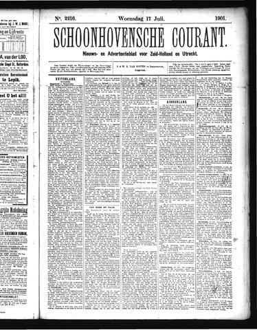 Schoonhovensche Courant 1901-07-17