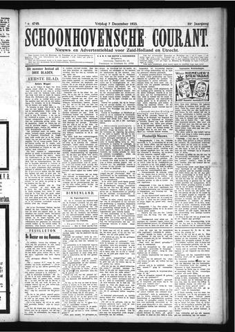 Schoonhovensche Courant 1923-12-07