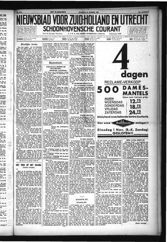 Schoonhovensche Courant 1932-10-31