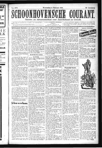Schoonhovensche Courant 1924-02-06