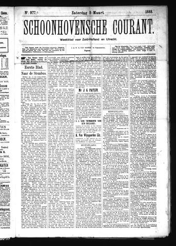 Schoonhovensche Courant 1888-03-03