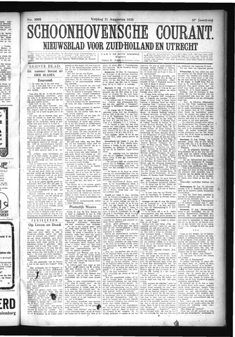 Schoonhovensche Courant 1925-08-21