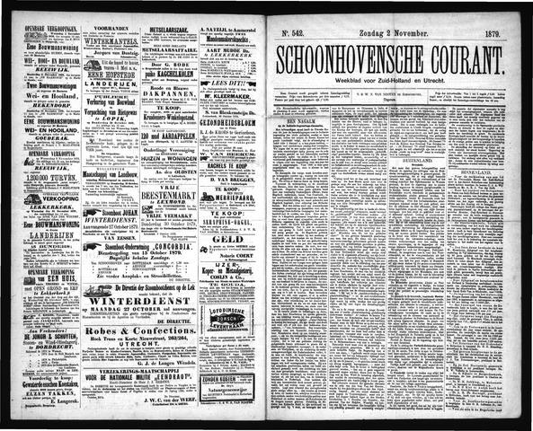Schoonhovensche Courant 1879-11-02