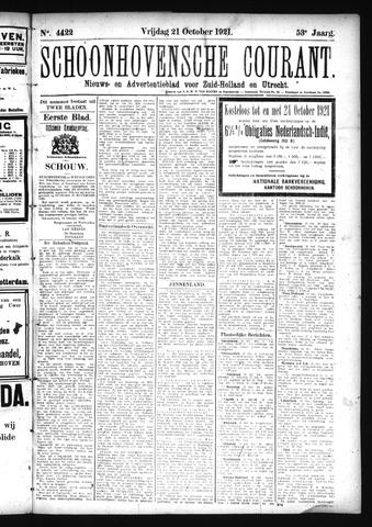 Schoonhovensche Courant 1921-10-21