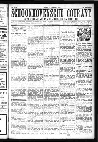 Schoonhovensche Courant 1924-02-22