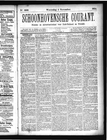 Schoonhovensche Courant 1914-11-04