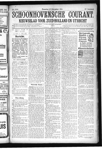 Schoonhovensche Courant 1926-12-27