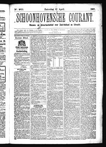 Schoonhovensche Courant 1907-04-27