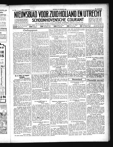Schoonhovensche Courant 1938-08-22