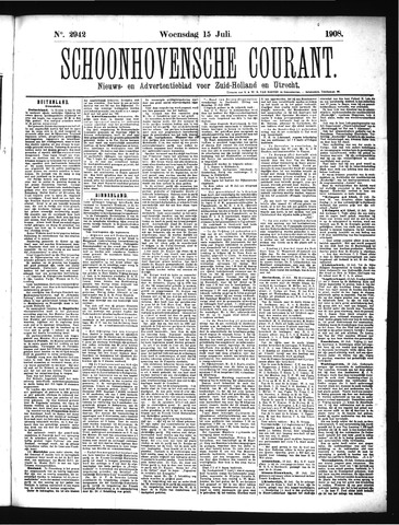 Schoonhovensche Courant 1908-07-15