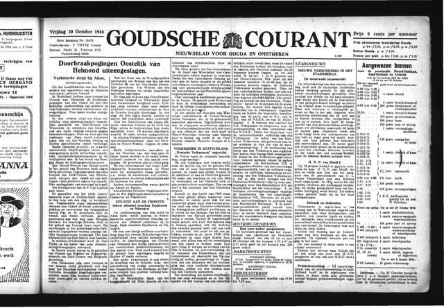 Goudsche Courant 1944-10-20