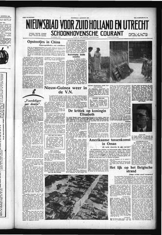Schoonhovensche Courant 1957-08-07